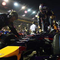 Sebastian Vettel preparado para comenzar el Gran Premio