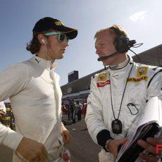 Grosjean poco antes de la salida