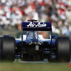 La parte trasera de Rosberg