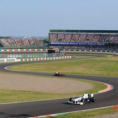 Heidfeld en la pista japonesa