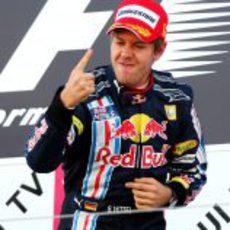 Vettel en lo más alto