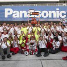 El equipo Toyota con Trulli