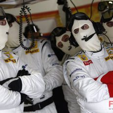 Los mecánicos de Renault