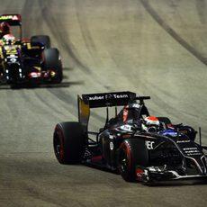 Adrian Sutil sufre un problema técnico