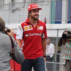Fernando Alonso llega a Suzuka con una sonrisa