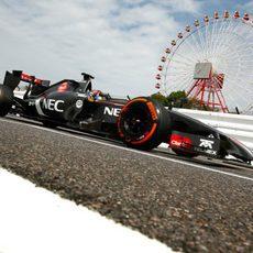 Adrian Sutil rodando en Suzuka