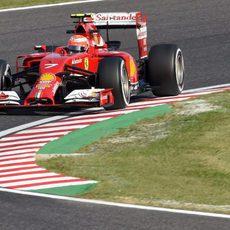 Kimi Räikkönen completa los primeros entrenamientos en Japón