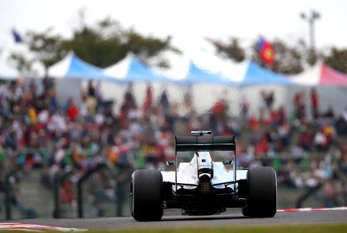 Parte trasera del W05 de Nico Rosberg en Japón