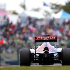 Kvyat rueda en el Gran Premio de Japón de Fórmula 1