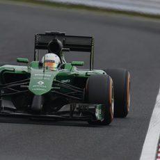 Kamui Kobayashi durante la clasificación