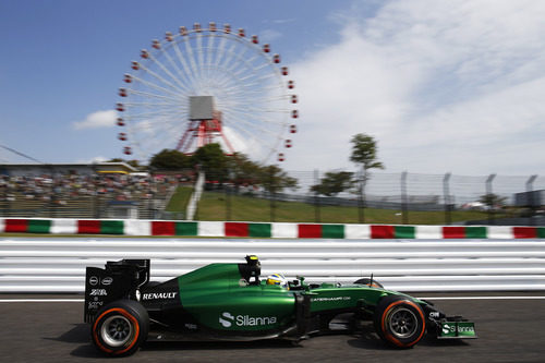 Marcus Ericsson bajo la noria de Suzuka