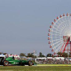 Marcus Ericsson rodando en Suzuka