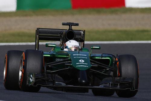 Kamui Kobayashi en pista justo antes de su temprano accidente