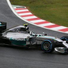Nico Rosberg lideró una parte de la carrera en Japón