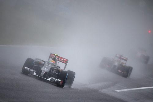 La visibilidad se ha visto comprometida con la lluvia