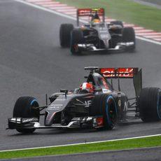 Los dos Sauber han luchado a pesar de los problemas