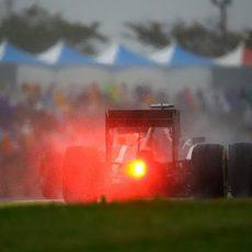 Los pilotos a penas veían la luz roja de sus rivales