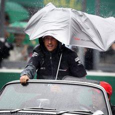 Jenson Button en la Drivers' Parade