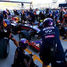 Red Bull ensaya una parada en boxes en Sochi
