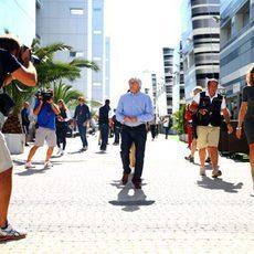 Bernie Ecclestone llega al circuito de Sochi