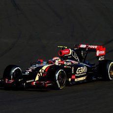 Pastor Maldonado por primera vez en la pista de Sochi
