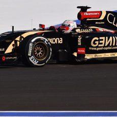 Romain Grosjean con dificultades de pilotaje