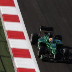 Roberto Merhi durante los Libres 1 del Gran Premio de Rusia 2014