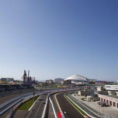 Felipe Massa en las instalaciones del circuito de Sochi