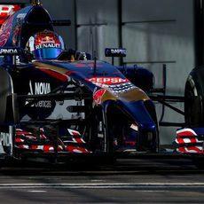 Daniil Kvyat en su Gran Premio de casa