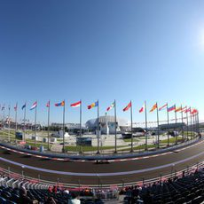 Los aficionados disfrutan del espectáculo de la Fórmula 1