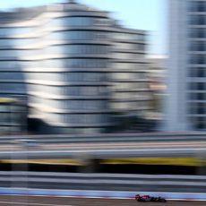 Espectacular imagen de Daniil Kvyat con el Toro Rosso