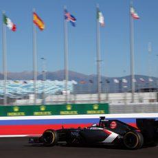 Adrian Sutil rueda en Sochi