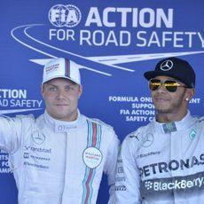 Valtteri Bottas casi le arrebata la pole a Lewis Hamilton