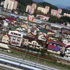 La ciudad de Sochi como paisaje del circuito