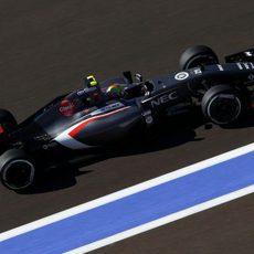 Esteban Gutiérrez ha terminado delante su compañero de equipo