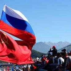 Los aficionados rusos muy entregados con la Fórmula 1