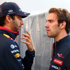 Antiguos compañeros de Toro Rosso