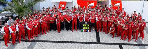 Ferrari muestra su apoyo a Jules Bianchi