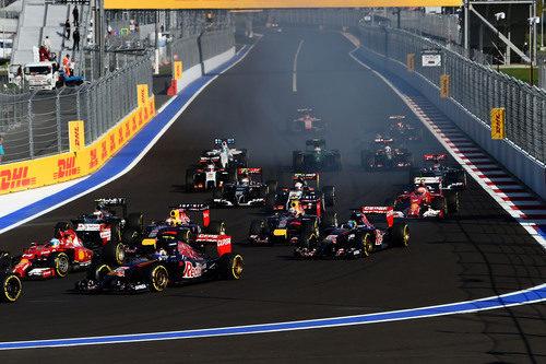 Salida del GP de Rusia