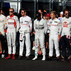 Los pilotos han recordado antes del GP a Jules Bianchi