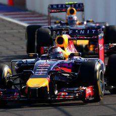 Los Red Bull han rodado juntos antes de la parada de Ricciardo