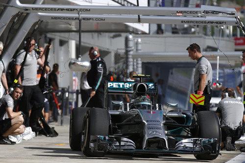 Nico Rosberg ha completado la carrera con un mismo juego de neumáticos