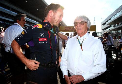 Bernie Ecclestone y Christian Horner son grandes amigos