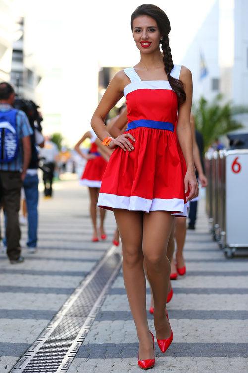 Pitbabe en el Gran Premio de Rusia 2014