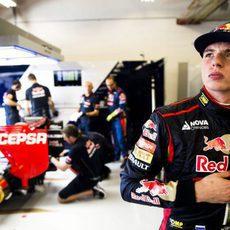Max Verstappen en su segunda vez en el GP