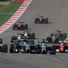 Salida del Gran Premio de Estados Unidos 2014