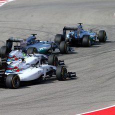 Felipe Massa se coloca tercero tras la salida