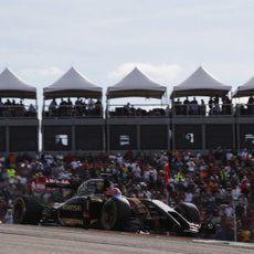 Romain Grosjean se quedó a las puertas de los puntos en Austin