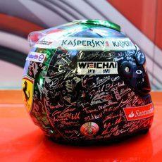 El casco de Fernando Alonso para el GP de Abu Dabi (1)