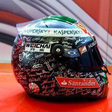 El casco de Fernando Alonso para el GP de Abu Dabi (4)